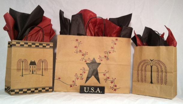 Folk Art Paper Bags