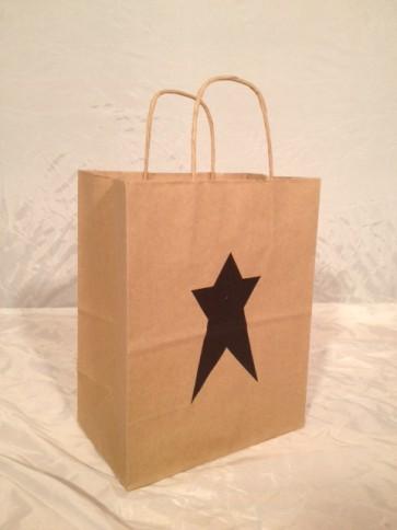 Black Star Folk Art Paper Bags
