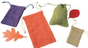 Colored Jute Pouches
