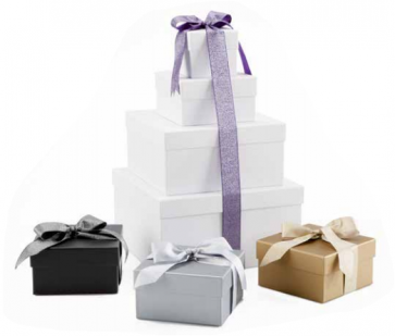Luxe Ribbon on Rigid Set Up Boxes