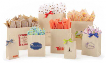 Oatmeal Sandkraft Shopping Bags
