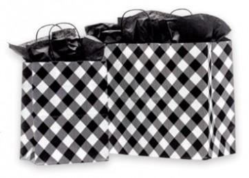 White Buffalo Plaid Paper Bags