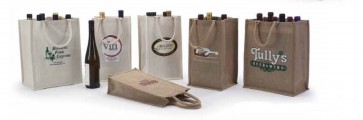 Jute & Canvas Wine Bags