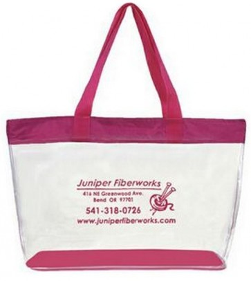 Extra Large Clear Vinyl Shopping Tote