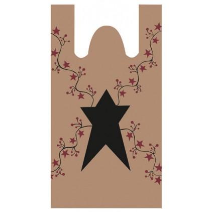Star & Berries Plastic Bags