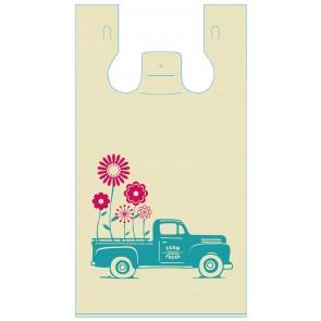 Flower Truck Plastic Bags