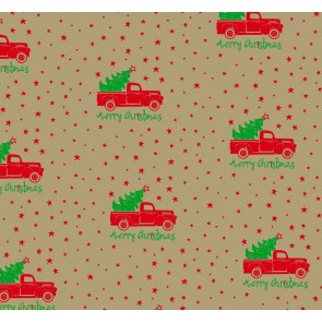 Merry Christmas Truck Tissue