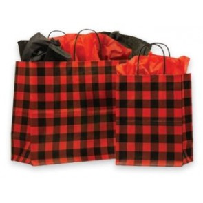 Red Buffalo Plaid Paper Bags