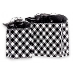 White Buffalo Plaid Paper Bags