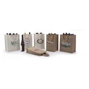 Jute & Canvas Wine Bags